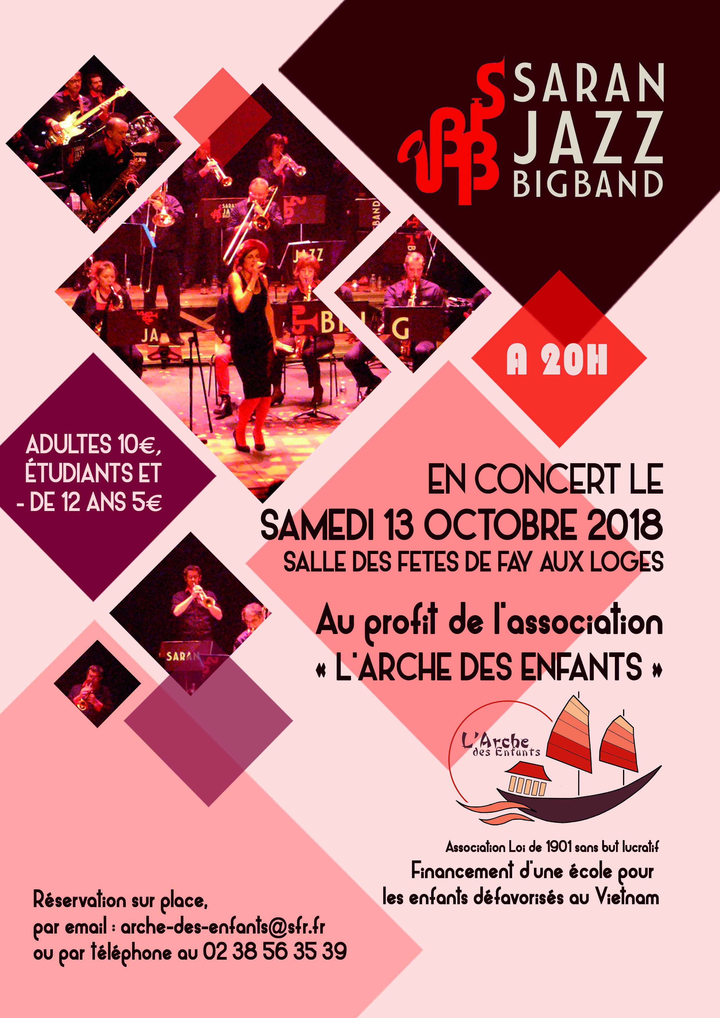 AfficheConcert Les musiciens du  Saran Jazz Big Band